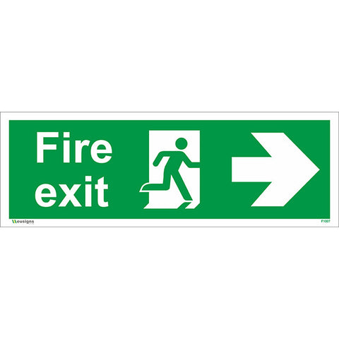 Fire Exit Arrow Right Sign - Health and Safety Signs