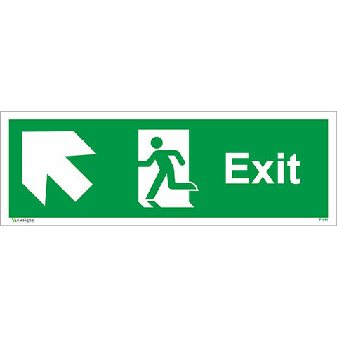 Exit Arrow Up Left Sign - Safety Signs & Stickers | Borehamwood Signs