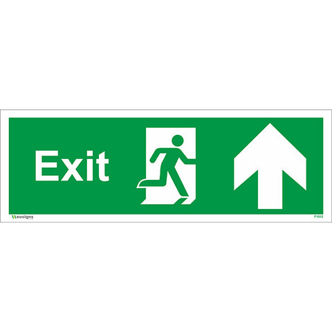 Exit Arrow Up Sign - Safety Signs & Stickers | Borehamwood Signs