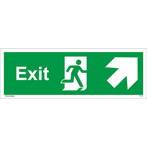 Exit Arrow Up Right Sign - Safety Signs & Stickers | Borehamwood Signs