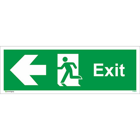 Exit Arrow Left Sign - Safety Signs & Stickers | Borehamwood Signs