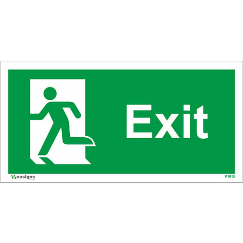 Exit Running Man Left Sign - Safety Signs & Stickers | Borehamwood Signs