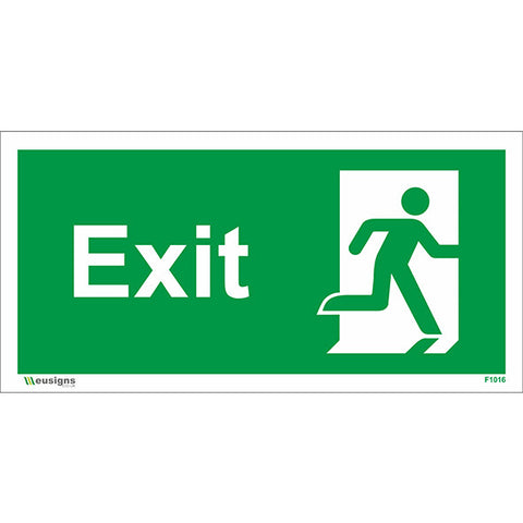 Exit Running Man Right Sign - Safety Signs & Stickers | Borehamwood Signs