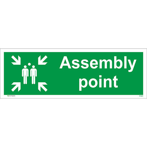 Assembly Point Sign - Heath and Safety Signs, Warning Signs, Emergency Signs, Fire Exit,Stop Signs, Borehamwood Signs