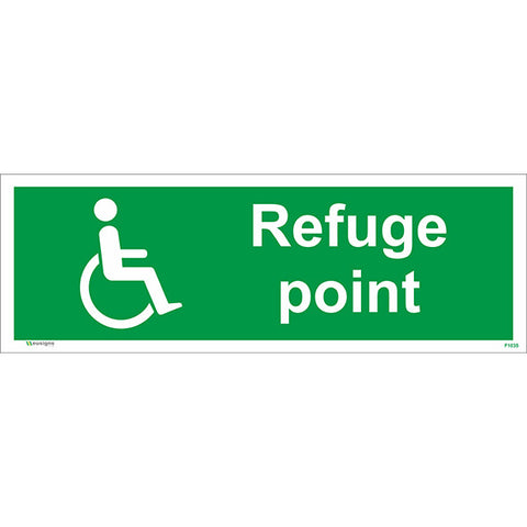 Refuge Point Sign - Safety Signs & Stickers | Borehamwood Signs