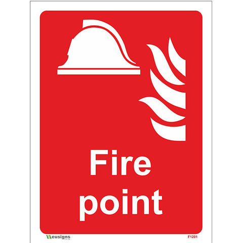 Fire Point Sign - Heath and Safety Signs, Warning Signs, Emergency Signs, Fire Exit,Stop Signs, Borehamwood Signs