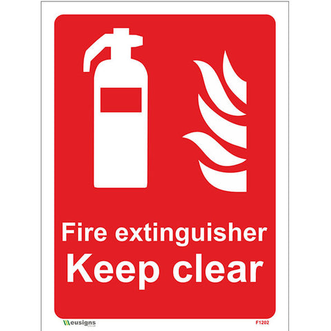 Fire Extinguisher Keep Clear Sign - Safety Signs & Stickers | Borehamwood Signs