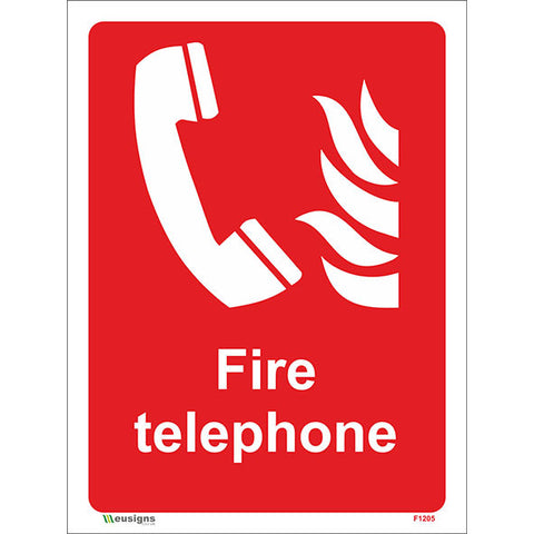 Fire Telephone Sign - Safety Signs & Stickers | Borehamwood Signs