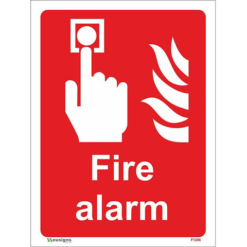 Fire Alarm Sign - Safety Signs & Stickers | Borehamwood Signs