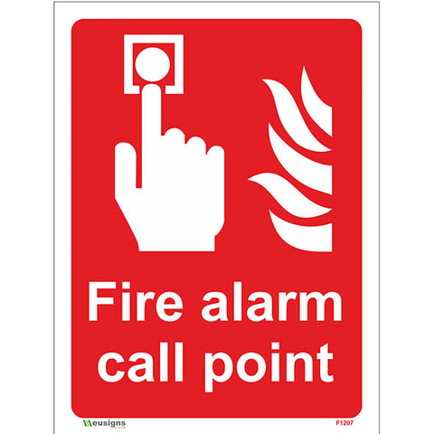 Fire Alarm Call Point Sign - Heath and Safety Signs|Warning Signs|Emergency Signs|Fire Exit|Hazard Signs|Safety|Stickers|Borehamwood Signs