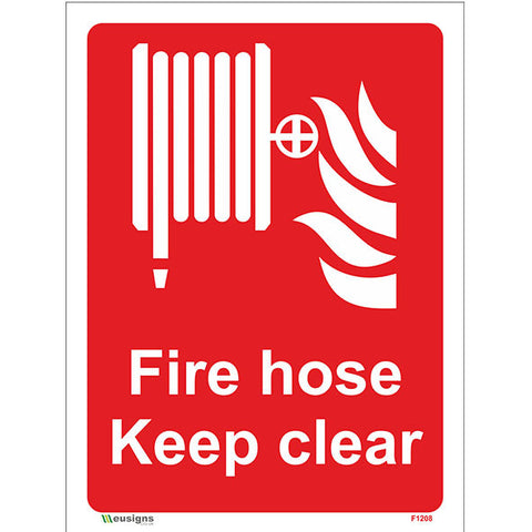 Fire Hose Keep Clear Sign - Safety Signs & Stickers | Borehamwood Signs