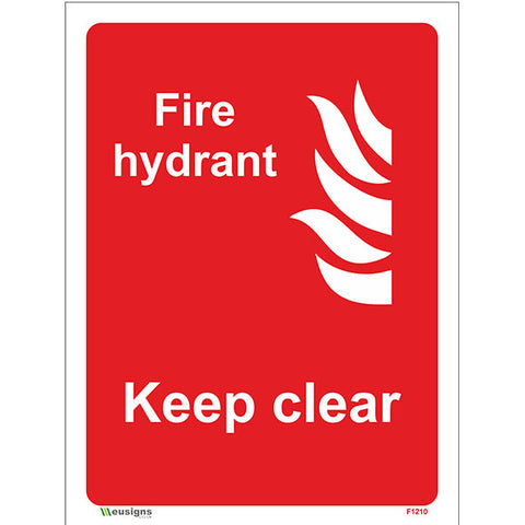 Fire Hydrant Keep Clear Sign - Safety Signs & Stickers | Borehamwood Signs