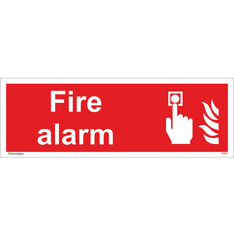 Fire Alarm Sign - Heath and Safety Signs|Warning Signs|Emergency Signs|Fire Exit|Hazard Signs|Safety|Stickers|Borehamwood Signs