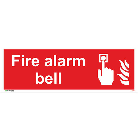Fire Alarm Bell Sign - Heath and Safety Signs|Warning Signs|Emergency Signs|Fire Exit|Hazard Signs|Safety|Stickers|Borehamwood Signs