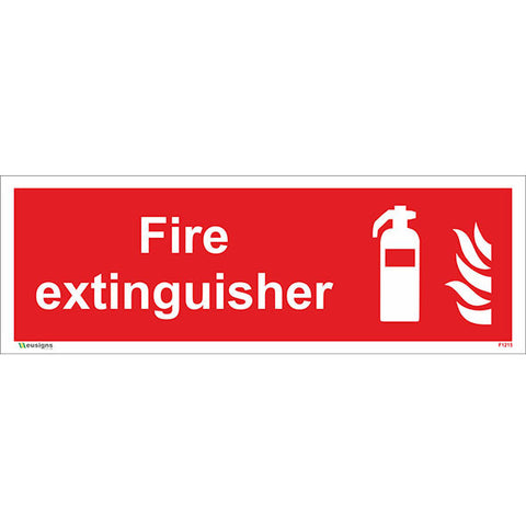Fire Extinguisher Sign - Heath and Safety Signs, Warning Signs, Emergency Signs, Fire Exit,Stop Signs, Borehamwood Signs