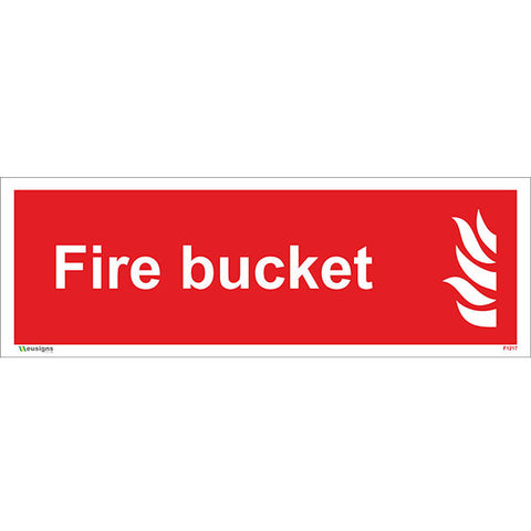 Fire Bucket Sign - Heath and Safety Signs, Warning Signs, Emergency Signs, Fire Exit,Stop Signs, Borehamwood Signs