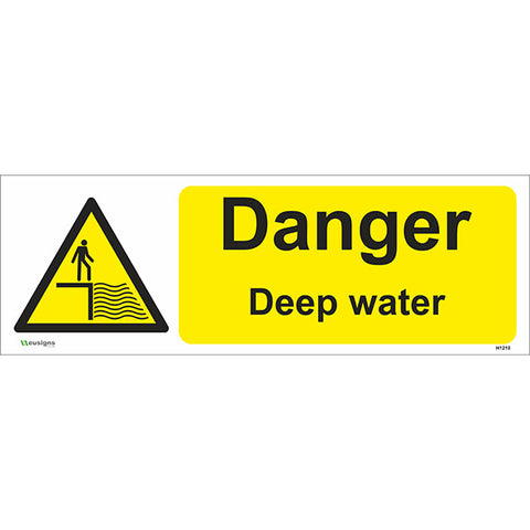 Danger Deep Water Sign - Safety Signs & Stickers | Borehamwood Signs