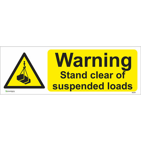 Warning Stand Clear of Suspended Loads Sign - Safety Signs & Stickers | Borehamwood Signs