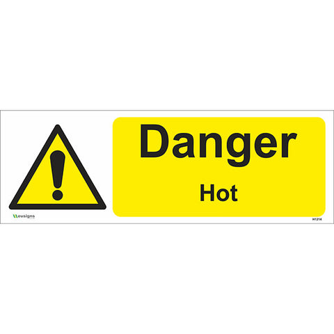 Danger Hot Sign - Safety Signs & Stickers | Borehamwood Signs