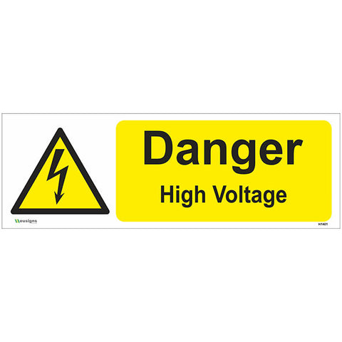 Danger High Voltage Sign - Safety Signs & Stickers | Borehamwood Signs