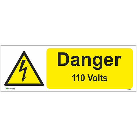 Danger 110 Volts Sign - Safety Signs & Stickers | Borehamwood Signs