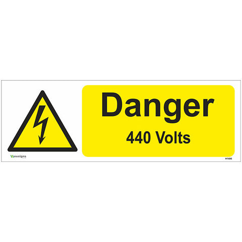 Danger 440 Volts Sign - Safety Signs & Stickers | Borehamwood Signs