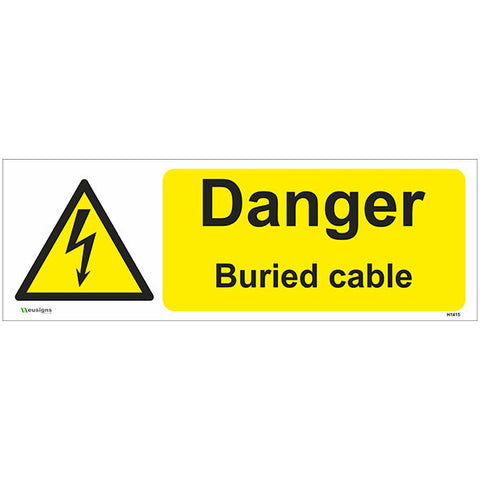 Danger Buried Cable Sign - Safety Signs & Stickers | Borehamwood Signs