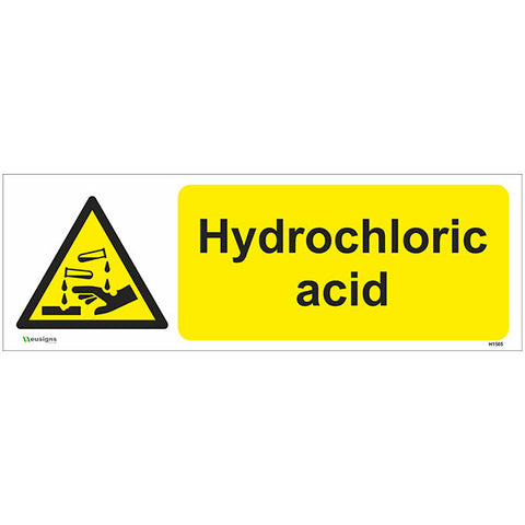 Hydrochloric Acid Sign - Safety Signs & Stickers | Borehamwood Signs