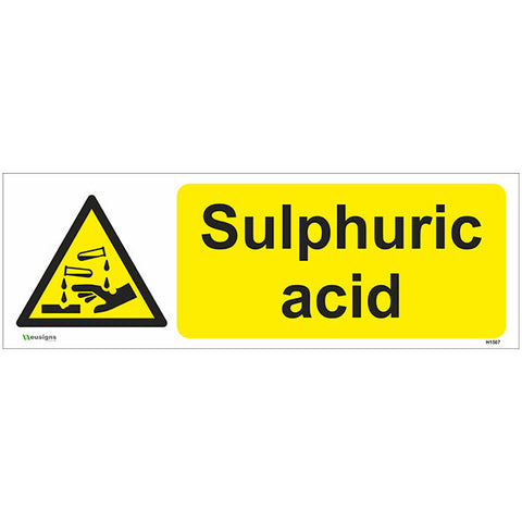 Sulphuric Acid Sign - Safety Signs & Stickers | Borehamwood Signs