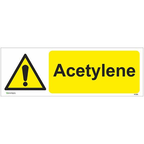 Acetylene Sign - Heath and Safety Signs|Warning Signs|Emergency Signs|Fire Exit|Hazard Signs|Safety|Stickers|Borehamwood Signs