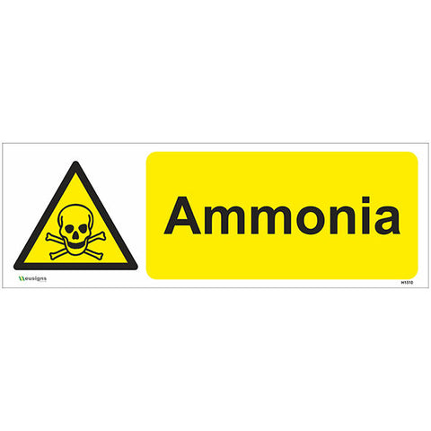 Ammonia Sign - Heath and Safety Signs|Warning Signs|Emergency Signs|Fire Exit|Hazard Signs|Safety|Stickers|Borehamwood Signs