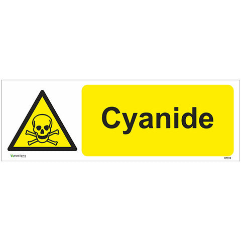 Cyanide Sign - Safety Signs & Stickers | Borehamwood Signs
