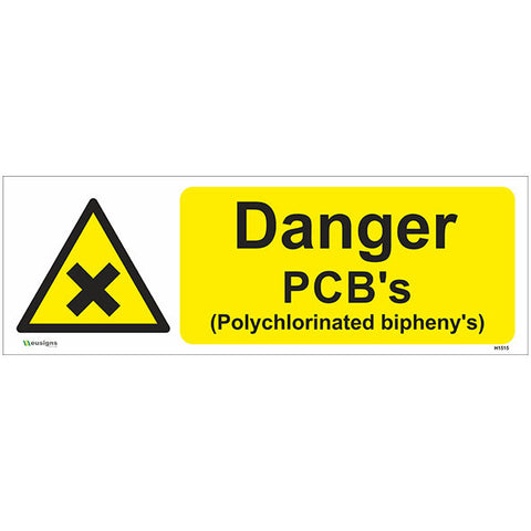 Danger PCB's Sign - Safety Signs & Stickers | Borehamwood Signs