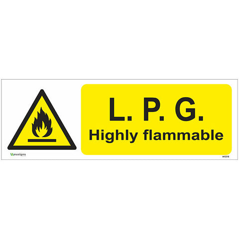 LPG Highly Flammable Sign - Safety Signs & Stickers | Borehamwood Signs