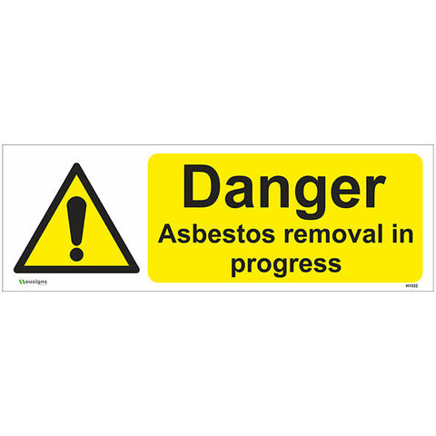 Danger Asbestos Removal In Progress Sign - Safety Signs & Stickers | Borehamwood Signs