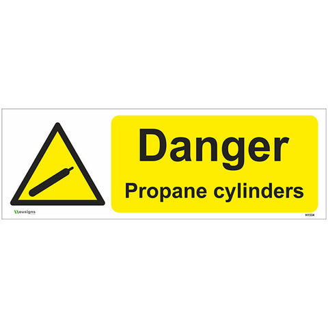 Danger Propane Cylinders Sign - Safety Signs & Stickers | Borehamwood Signs