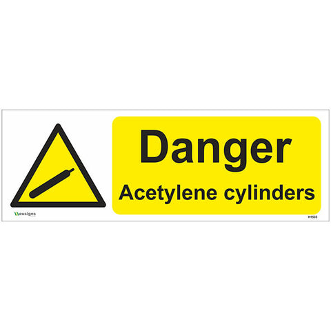 Danger Acetylene Cylinders Sign - Safety Signs & Stickers | Borehamwood Signs