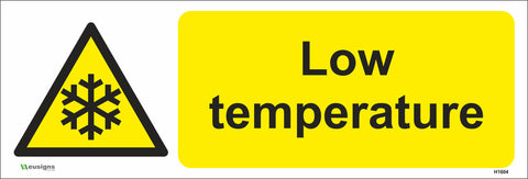 Low Temperature Sign - Safety Signs & Stickers | Borehamwood Signs