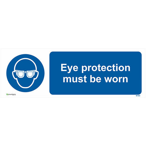 Eye Protection Must Be Worn Sign - Safety Signs & Stickers | Borehamwood Signs