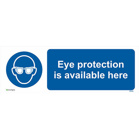Eye Protection Is Available Here Sign - Safety Signs & Stickers | Borehamwood Signs