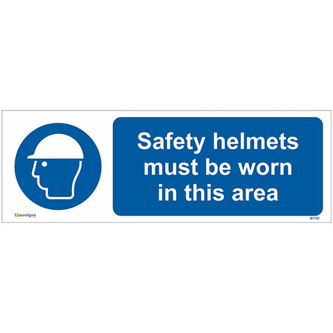 Safety Helmets Must Be Worn In This Area Sign - Safety Signs & Stickers | Borehamwood Signs