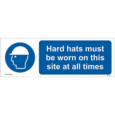 Hard Hats Must Be Worn On This Site At All Times Sign - Safety Signs & Stickers | Borehamwood Signs