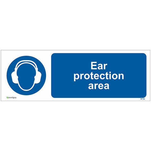 Ear Protection Area Sign - Safety Signs & Stickers | Borehamwood Signs
