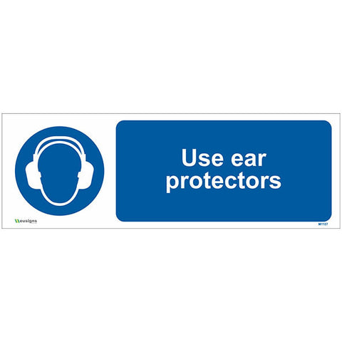 Use Ear Protectors Sign - Safety Signs & Stickers | Borehamwood Signs
