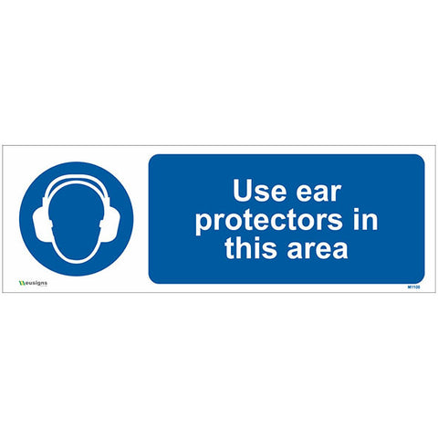 Use Ear Protectors In This Area Sign - Safety Signs & Stickers | Borehamwood Signs