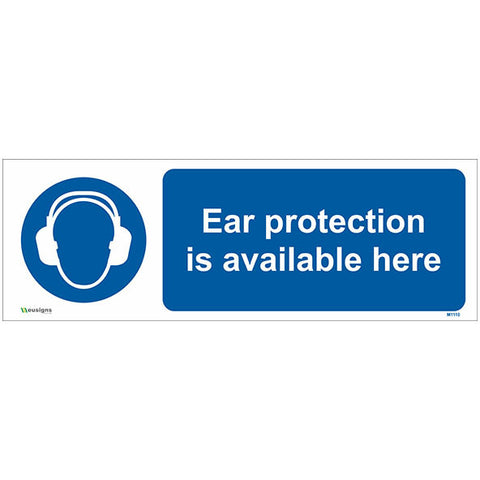Ear Protection Is Available Here Sign - Safety Signs & Stickers | Borehamwood Signs