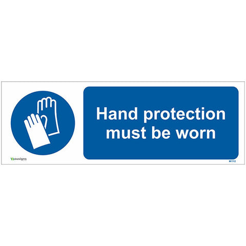 Hand Protection Must Be Worn Sign - Safety Signs & Stickers | Borehamwood Signs