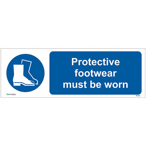 Protective Footwear Must Be Worn Sign - Safety Signs & Stickers | Borehamwood Signs