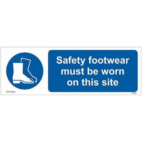 Safety Footwear Must Be Worn On This Site Sign - Safety Signs & Stickers | Borehamwood Signs