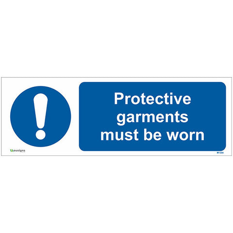 Protective Garments Must Be Worn Sign - Safety Signs & Stickers | Borehamwood Signs